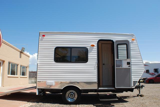 Toy Hauler Image Exterior Pic Of 12 Foot Cb Trailer Showcasing Curb Side