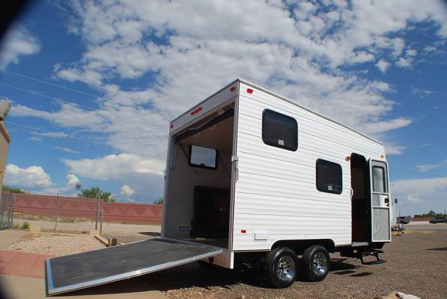 Toy Hauler Image Exterior Pic Of 14 Foot Quot Cb Quot Trailer