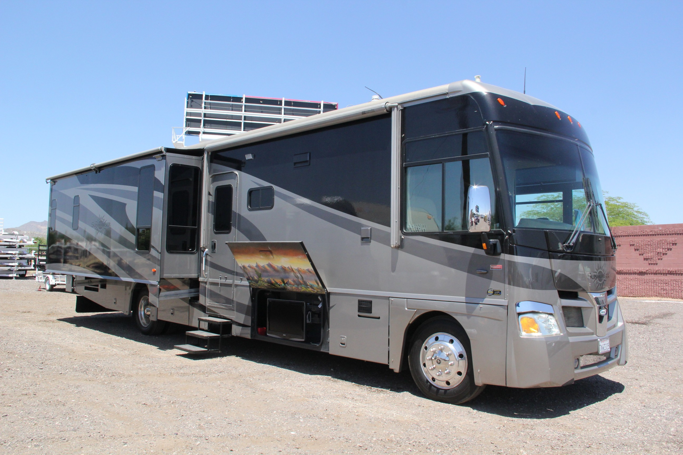 In stock now for Toy hauler motor homes
