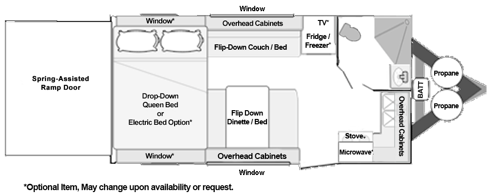 Toy Hauler Floorplans Custom and Standard Models from Dune Sport