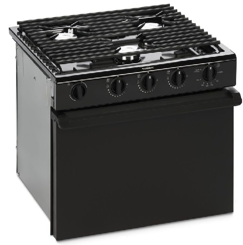 Cooktop 3 Burner W/Oven Black