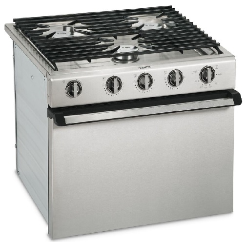 Cooktop 3 Burner W/Oven Stainless Steel