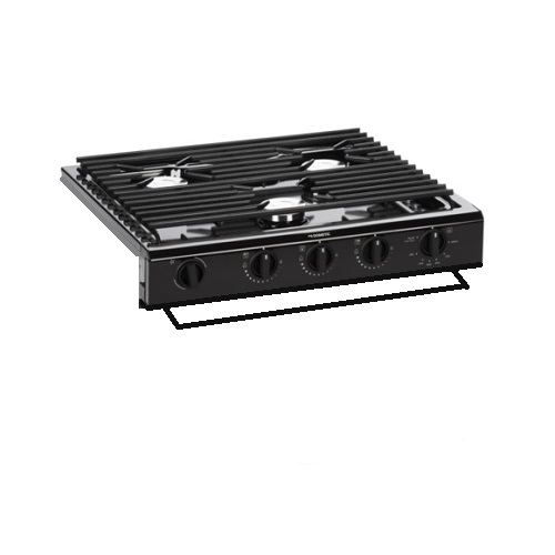 Cooktop 3 Burner Black Slide-In